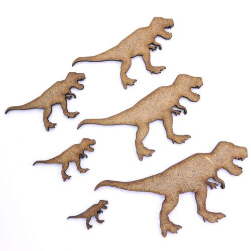 T Rex 2 mm Madera Mdf Tiranosaurio Rex Dinosaurio Craft forma Jurassic Park