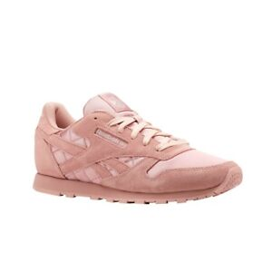 Reebok Classic Leather Satin (CHALK PINK/CHALK) Grade School Kids Shoes CN3592