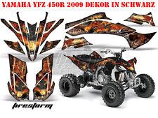 AMR RACING DEKOR GRAPHIC KIT ATV YAMAHA YFZ 450 04-14 YFZ450R 09-16 FIRESTORM B