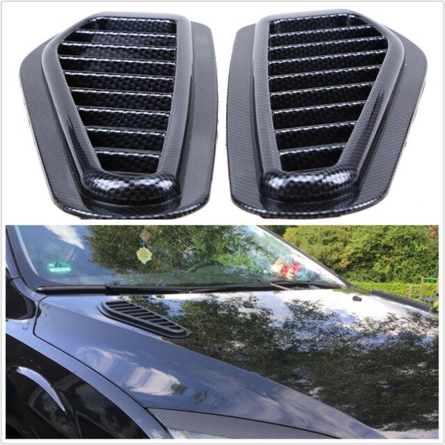 Car Carbon Fiber Car-styling Air Flow Intake Scoop Turbo Bonnet Vent Cover Hood