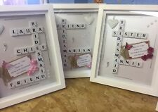 Will You Be My Bridesmaid Scrabble Frame Gift Ebay