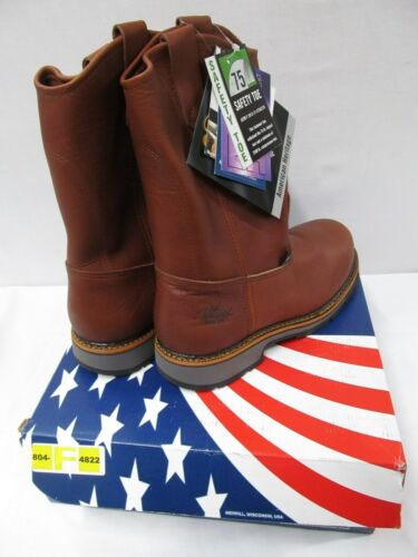 Thorogood American Heritage Brown Safety Toe Slip On Work Boots 804-4822