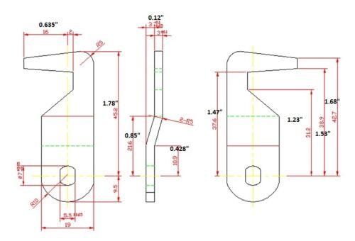 "LOT OF 5 Homak lock 5//8/""tubular 180 degree replacement lock hook cam KEYED ALIKE"