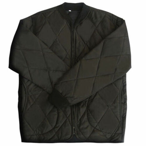 Da uomo Field Jacket inverno caldo FODERE interno trapuntato giacca nera US XS-XL