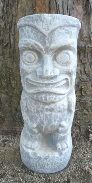"Gostatue MOLD smiling tiki statue mold 1/8th "" poly plastic mold concrete mould"