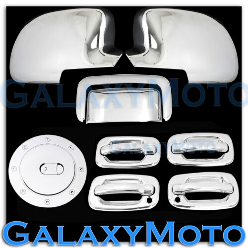 Chevy Tahoe Chrome Mirror+4 Door handle+Passenger Keyhole+Tailgate+Gas Cover