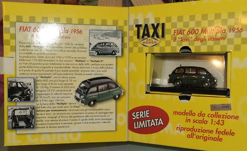 (PRL) BRUMM TAXI 1956 CAR CAB FIAT 600 LIMITED EDITION 5162 SCALE 1 43 NUMERATA