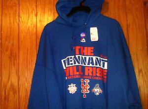 new style a1392 21f6a Details about MENS NEW MAJESTIC NEW YORK METS HOODIE 3XL 2015 PENNANT WILL  RISE MLB LINCENSED