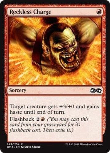 - Ultimate Masters 4 x Reckless Charge Common 143//254