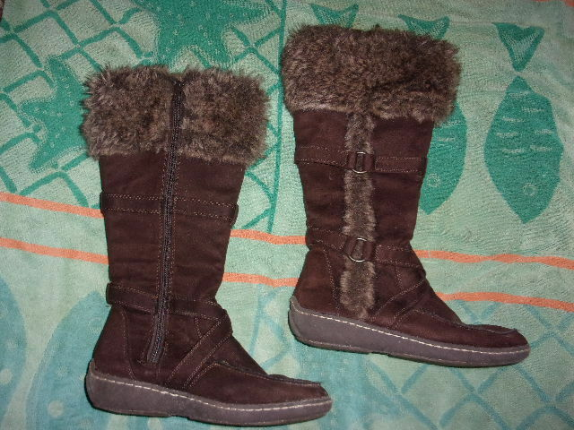 American Eagle Outfitters BROWN ZIPPER Boots WOMENS SIZE 7