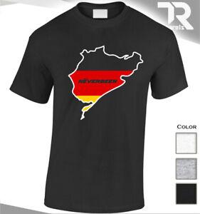 Nuerburgring-Auto-T-Shirt-nie-Racing-f1-Fashion-Tee-M-Power-Sport-Top-Herren