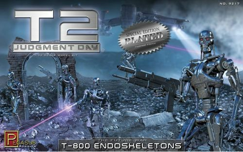 Pegasus Hobbies 1 32 Terminator 2 T-800 Endoskeletons Chrome Plated