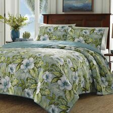 Tommy Bahama Quilt Set 3PC Queen size 100% cotton Tropical Floral Botanical NEW