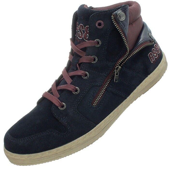 Redskins Minska Uomo' high-top scarpe da ginnastica dark dark dark blue casual Scarpe scarpe da ginnastica NEW 498ade