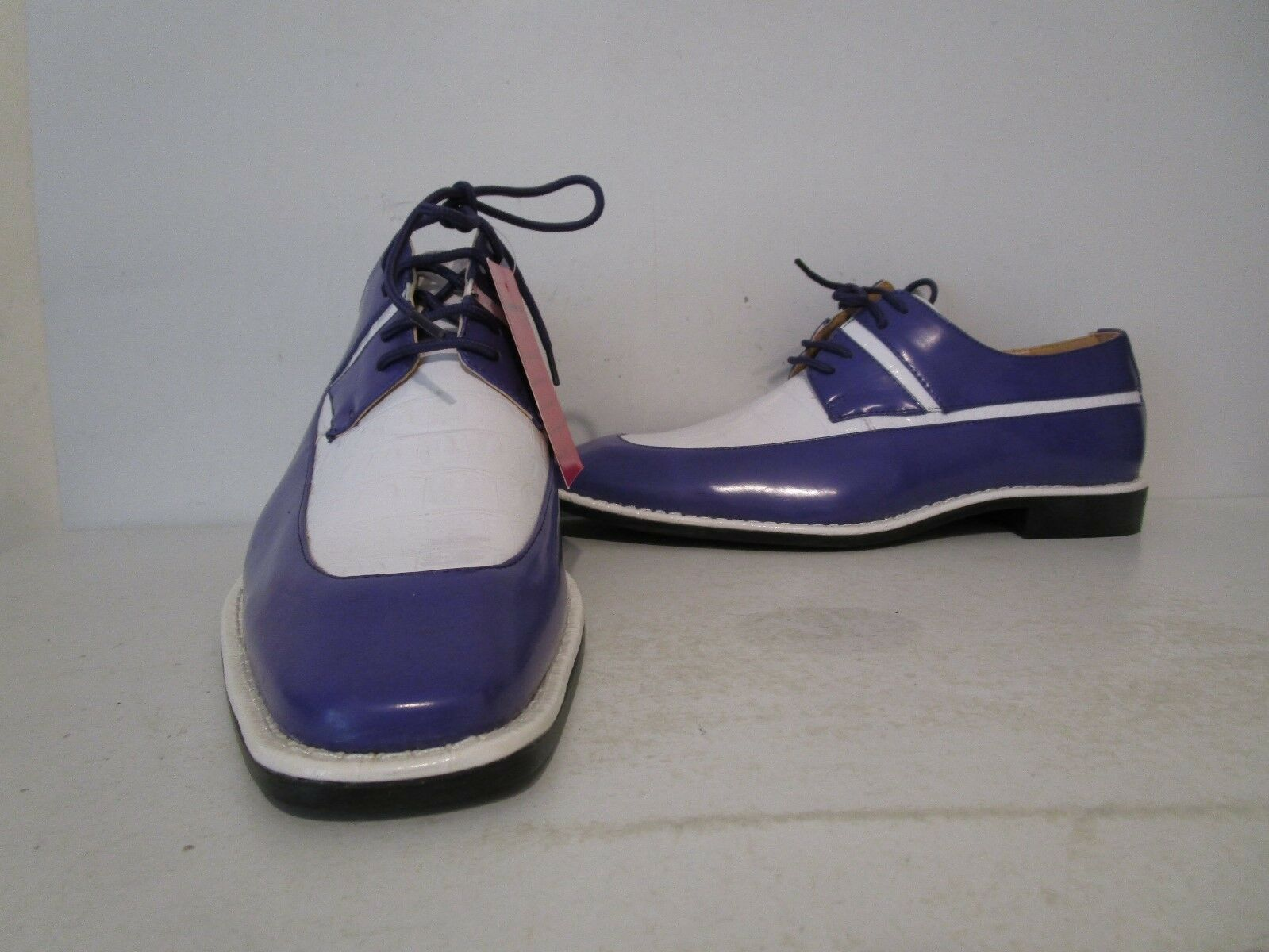 Roberto Chillini Expressions Oxford 6601 Faux Leather Dress Oxford Expressions Shoe Purple/White 10 0d9ee7