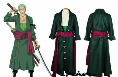 One Piece Zoro Two Years Later Green Kimono Uniform Made Cosplay Costume new