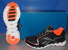 KIDS REEBOK ZIGLITE RUN(PS) BLACK / VITANIN C / WHITE / GREY SIZE 1