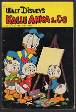 1958 SWEDISH VINTAGE DISNEY KALLE ANKA & C:O DONALD DUCK COMIC #1 FR-GD