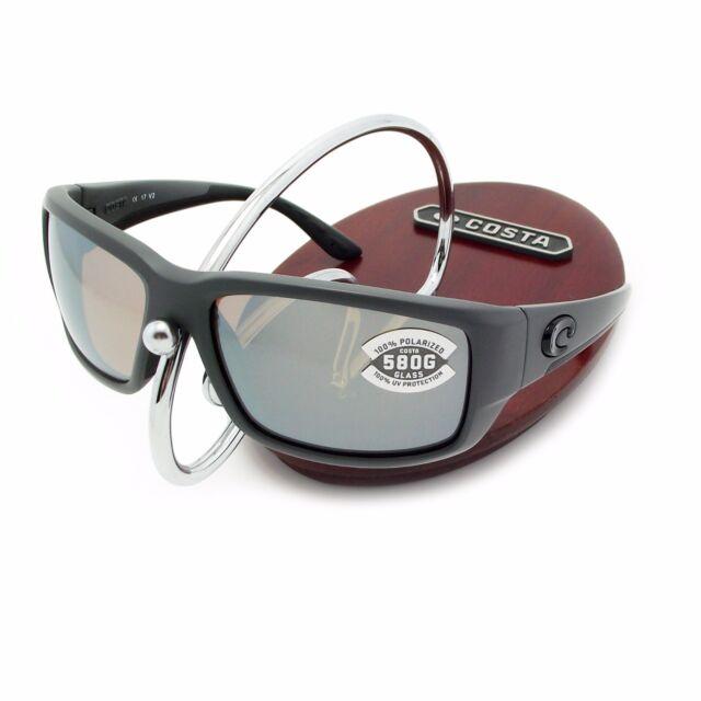 9dd9437b41c NEW Costa Del Mar ARANSAS Matte Storm Gray   580 Silver Gray Mirror ...