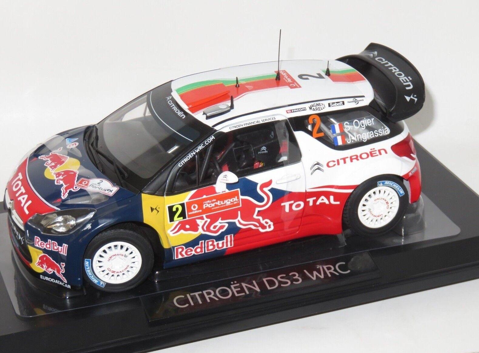 estilo clásico 1 18 Citroen Citroen Citroen DS3 WRC rojo Bull ganadores Rally Portugal 2011 S. Ogier  tienda