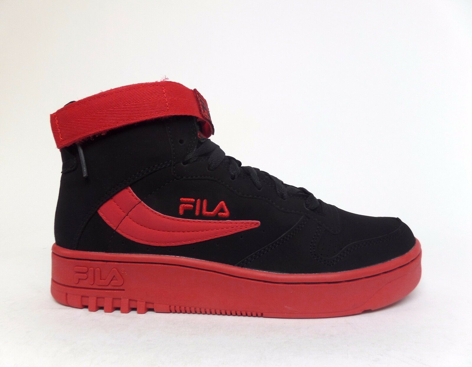 FILA Men's FX-100 HIGH-TOP Shoes Black/Red 1VB90151-023 a Special limited time