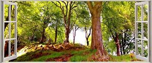 Huge-3D-Panoramic-Exotic-Forest-Window-View-Wall-Stickers-Mural-234