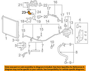 cadillac gm oem 05 10 sts 4 6l v8 radiator bypass hose 12566109 ebay rh ebay com Forced Induction Diagram Chevy Coolant Flow Diagram
