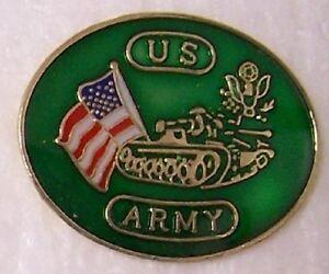 Hat Lapel Push Tie Tac Pin Military Tank NEW