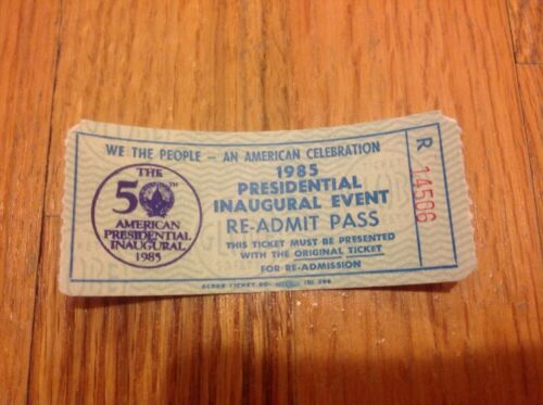 Dealer Lot 12 1985 PRESIDENT RONALD REAGAN INAUGURATION Event Re-Admit Tickets