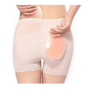 Women Sexy beige Silicone Hip Up Pads Butt Enhancer Booster SZHKUS