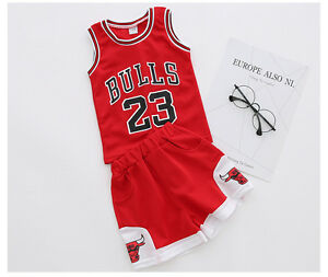 7f40763a5 1-10 years Kids Baby Boys 23 Basketball Jerseys Short Suits kits UK ...