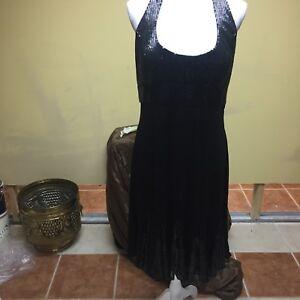 60476fd65c NWT Cachet Women's Long Black Sleeveless Cocktail Dress Size 14 ...