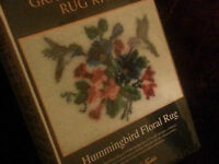 Graph N Latch Rug Kit 37755 Hummingbird Floral Rug 27 X 20 Wow