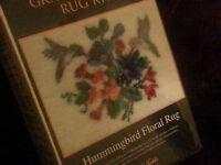 Graph N Latch Rug Kit 37755 Hummingbird Floral Rug 27 X 20 Wow