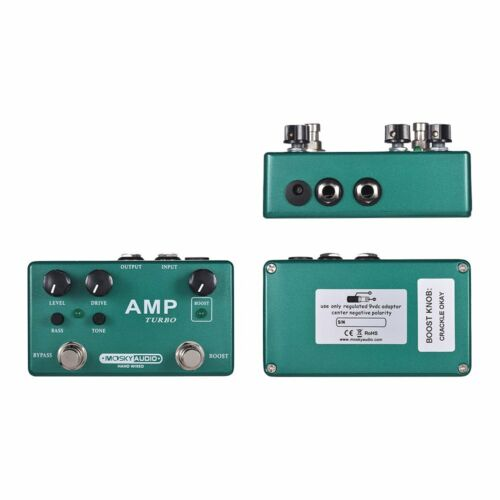 Classic Overdrive Effects MOSKY AMP TURBO 2-in-1 Guitar Effect Pedal Boost