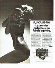 PUBLICITE ADVERTISING 037  1975  appareil Photo Fujica ST 901   seins nus