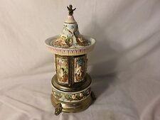 Vintage Reuge Carousel Music Box Italy Cigar Cigarette Lipstick Holder  - ETR
