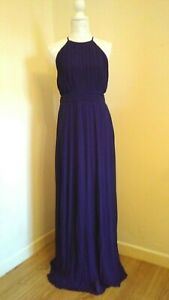TFNC-London-Navy-Evening-Gowns-x-3-Pleated-Bridesmaid-Dress-UK-Sizes-8-10-14