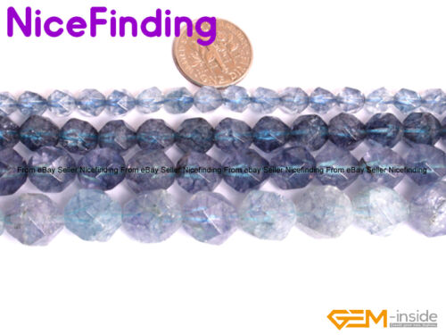 """Round Faceted Gemstone Loose Beads For Jewelry Making Strand 15/"""" Assorted Stone"""