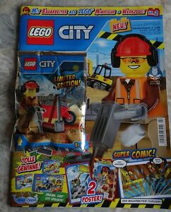 magazine lego city construction worker with tool 2. Black Bedroom Furniture Sets. Home Design Ideas