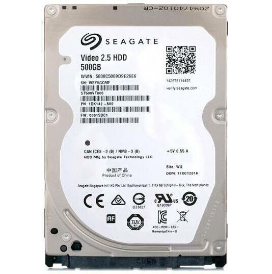 Seagate Video 25 HDD 500 GBInternal5400 RPM25 ST500VT000 For Sale Online