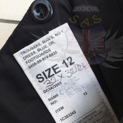 UK BRITISH ARMY SURPLUS ISSUE G1 NO.1 DRESS FOOTGUARDS UNIFORM PARADE TROUSERS