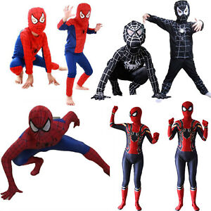Kids Superhero Spiderman Boys  Dress Up Party Cosplay Costume Party Gift