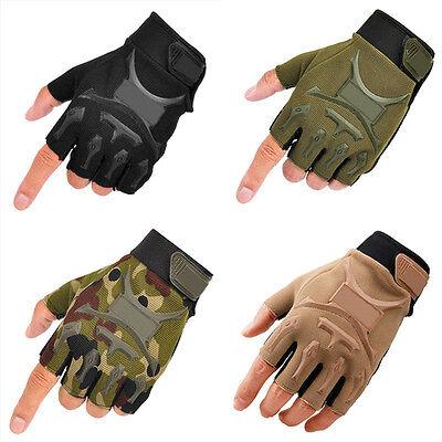 Herren Armee-Taktische Militär Handschuhe fingerlos Airsoft Paintball Jagd