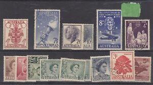 Australia-QEII-1950s-Collection-of-15-Values-Mint-VFU-J1272