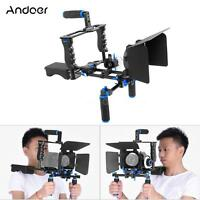 Dslr Camera Rig Video Cage Kit Film+rod Follow Focus Handle Grip For Dslr Camera