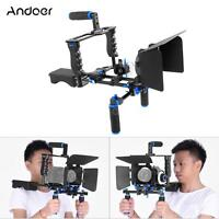 Dslr Camera Rig Video Cage Kit Film+rod Follow Focus Handle Grip For Dslr Camera