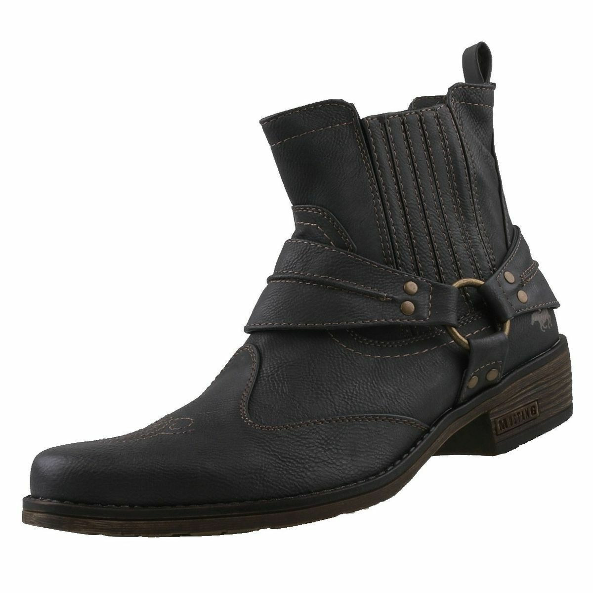 NEU Mustang Herrenschuhe Schuhe Western-Stiefel Cowboystiefel Herren Stiefel    | Ästhetisches Aussehen