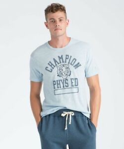 a904977e Todd Snyder + Champion Men's Tiger Tee Shirt in Light Blue Made ...