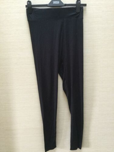 NUOVO M/&S Collezione Donna Nero piena lunghezza legging 8 10 12 14 20